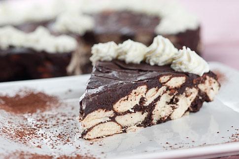 belgický nepečený dort