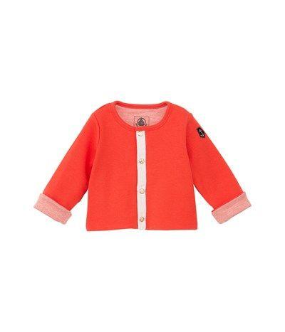 Cardigan reversibile bebé unisex in cotone arancione Gingembre - Petit Bateau 28.60