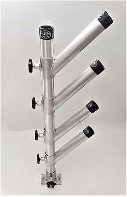 Rod Holder Adjustable Tree Quad Fits Tracks Fishing Trolling Aluminum holders