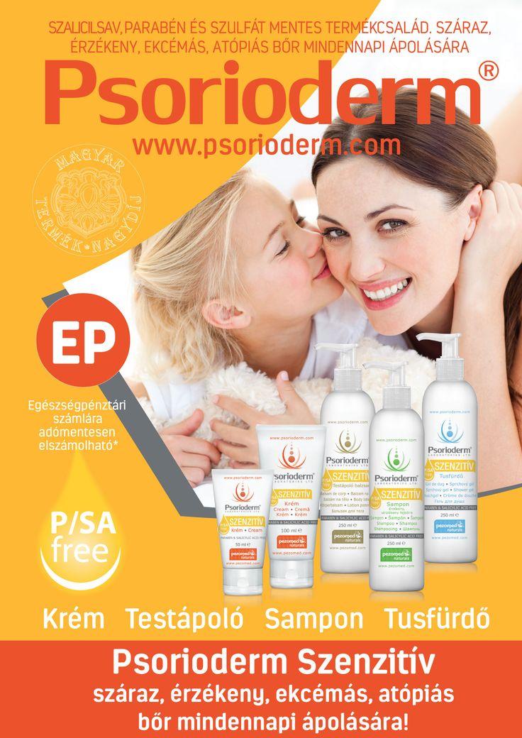 PSORIODERM SZENZITÍV KRÉM  Magyar Termék Nagydíjas Psorioderm Szenzitív krém. Babák és kisgyermekek érzékeny bőrére is! Parabén- és szalicilsavmentes Szenzitív krém ekcémás, atópiás, pikkelysömörös és szeborreás bőr napi ápolására. Hozzáadott jojoba-, akácméz kivonattal, shea vaj- és E-vitamin tartalommal rendelkező krém mindennapos használatra.