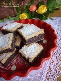 Barbi konyhája: Mákos kocka - fehér liszt és cukormentes
