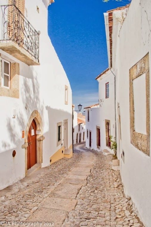 Marvão, a medieval hilltop village with castle in Alentejo, Portugal.