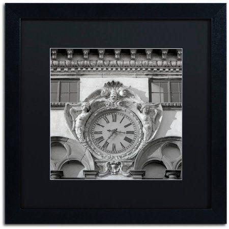 Trademark Fine Art Il Grande Orologio II Canvas Art by Alan Blaustein, Black Matte, Black Frame, Gray