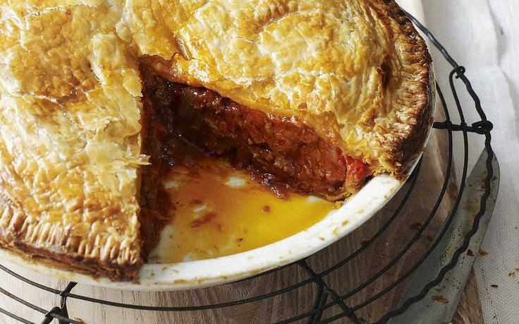 Savoury mince pie recipe - By Australian Women's Weekly, Fill up this winter with a classic savoury mince pie. Filled with meat, veggies and gravy it's a classic for a reason.