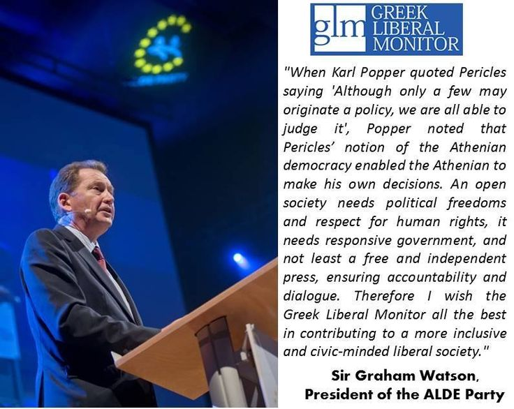 Sir Graham Watson in regards to Greek Liberal Monitor