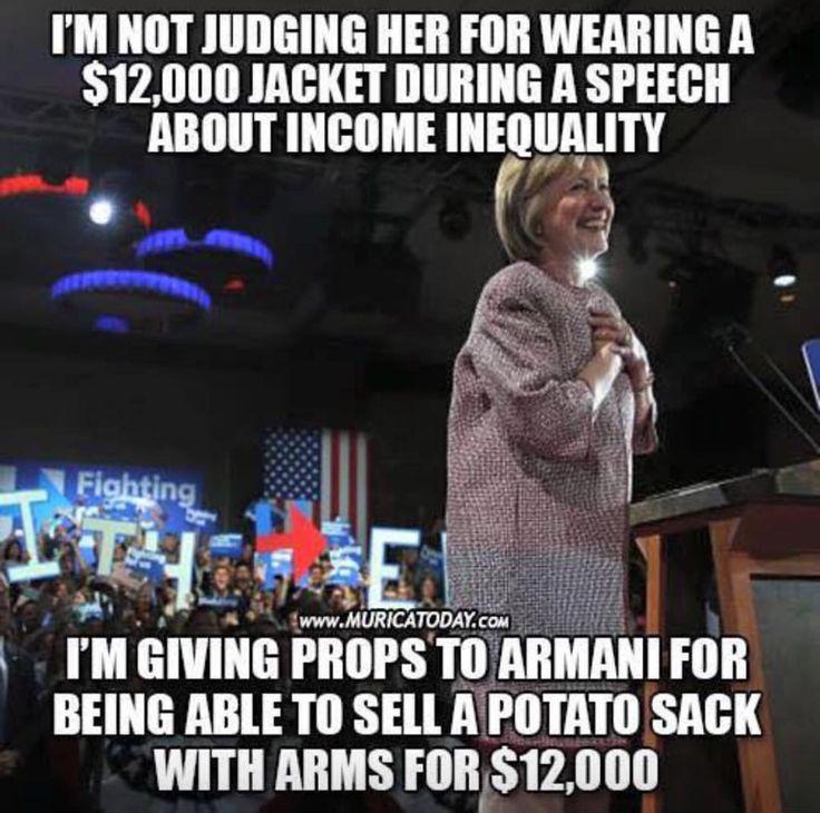 Hillary's potato sack...wow
