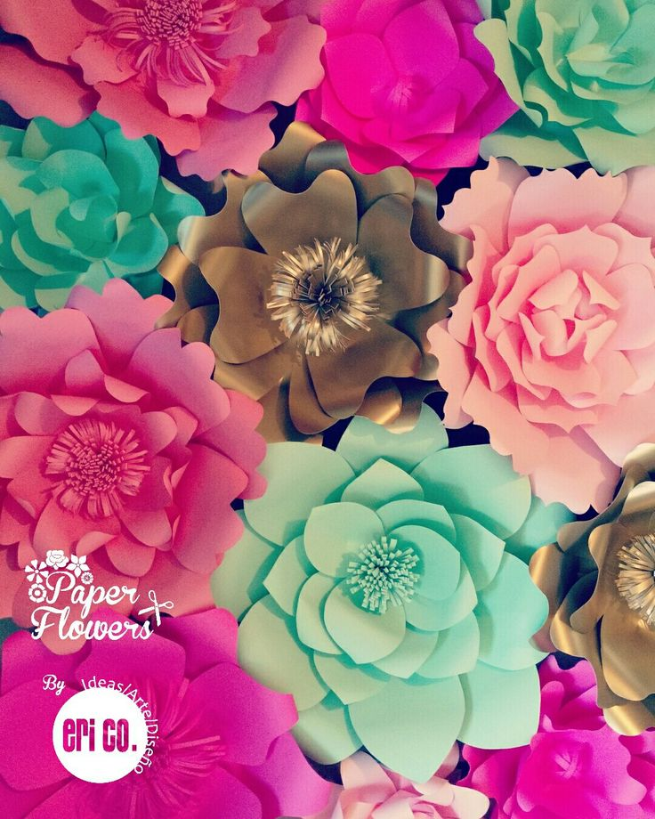 Giant Paper Flowers Summer Colors
