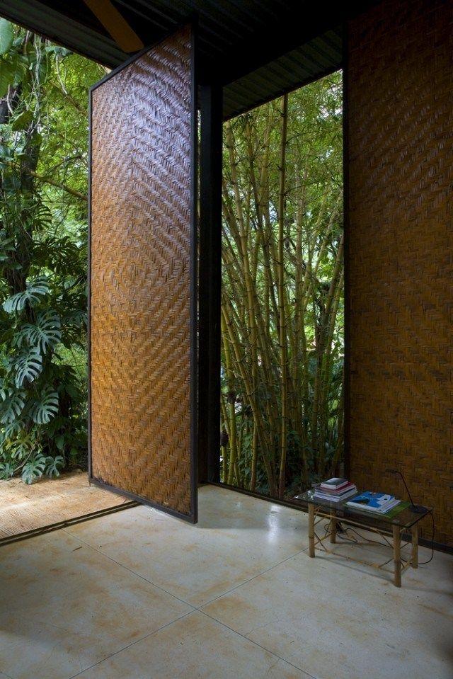 woven sliding walls