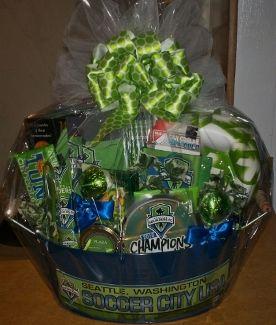 53 best custom gift baskets images on pinterest gift baskets seattle sounders gift basket negle Choice Image