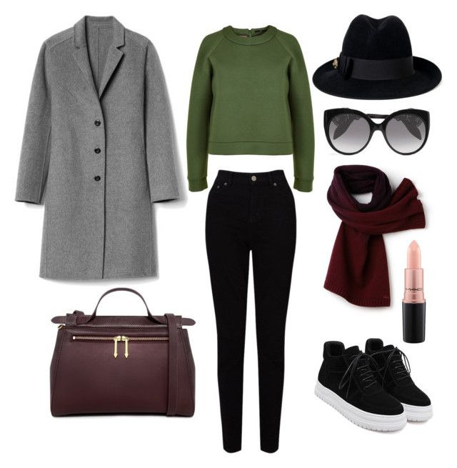"""""""Senza titolo #207"""" by firefashionga on Polyvore featuring moda, TIBI, EAST, WithChic, Gap, Karen Walker, Gucci, Alexander McQueen, Lacoste e MAC Cosmetics"""
