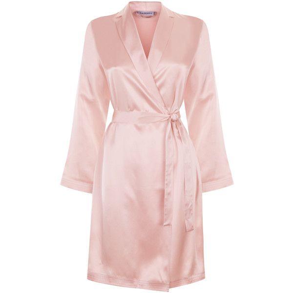 La Perla Silk Silk Satin Short Robe 384 Liked On Polyvore