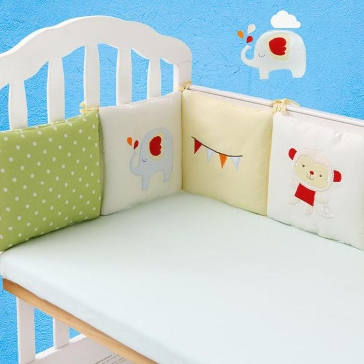 6pcs Baby Infant Cot Crib Bumper Safety Protector Toddler Nursery Bedding Set