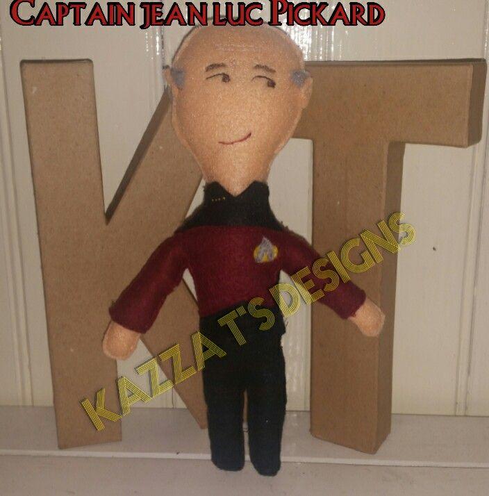 captain Jean Luc Picard handmade felt plush doll 😆 #kazzatsdesigns #feltplushdolls #beingcreative #favecharacters #startrek #captainjeanlucpicard