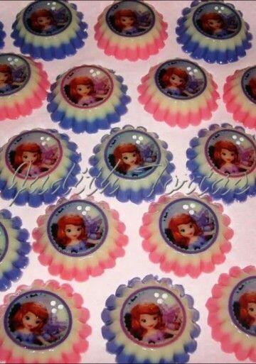 gelatinas de coronas de princesas - Buscar con Google