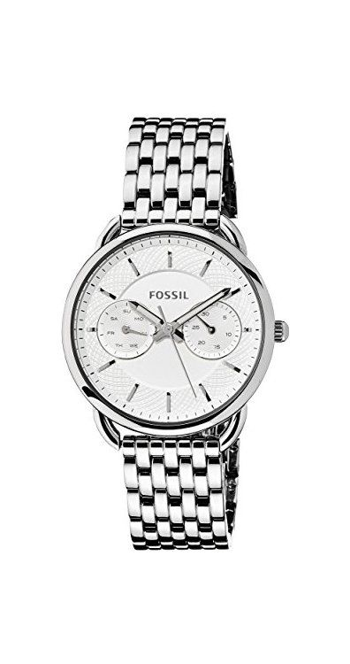 http://www.newtrendsclothing.com/category/fossil-watch-women/ Fossil Women's ES3712 Tailor Silver-Tone Stainless Steel Watch