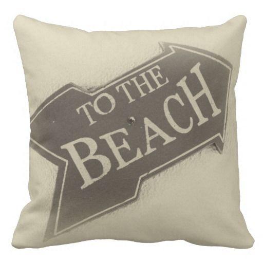 To The Beach - B&W Photo Pillow  #Pillow #Photograph #Beach #Caribbean #CaribLoveDesigns