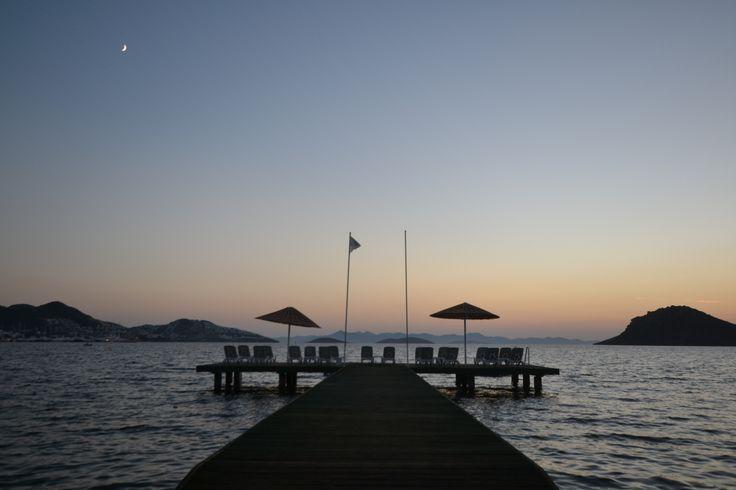 The sun setting over Yalikavak, Turkey #Turkey #Bodrum #Yalikavak #sunset
