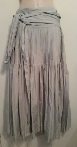 Lilith pale gray pleated wrap maxi skirt, Size M (40)