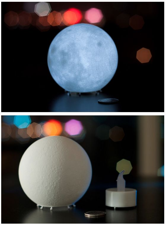moon lamp. I want one in my bedroom!