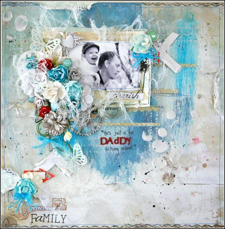 Father's Day layout by Felicity Wilson for Prima!