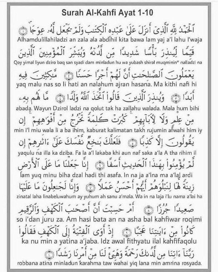 Surah Al Kahfi 1 10 Aarif Billah Surah Al Kahf Surah Kahf Al Kahf