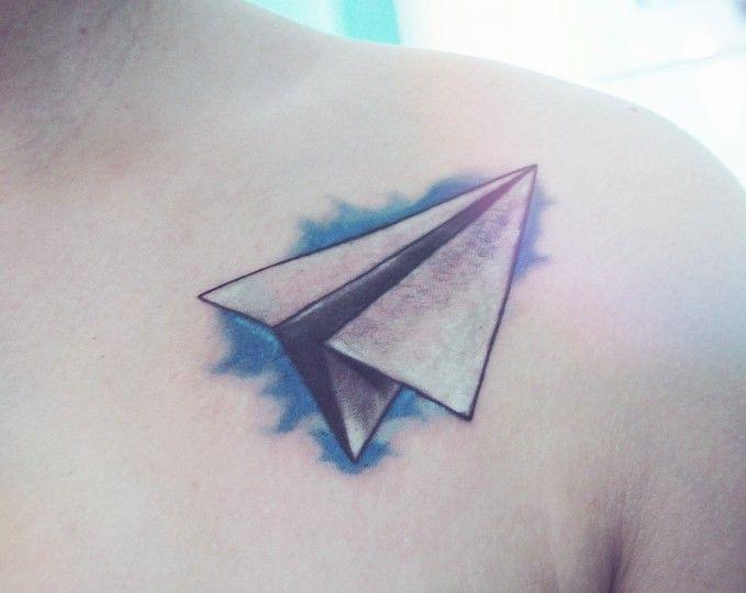 Paper airplane tattoo MUST GET :) @Matty Chuah Memphis Flyer