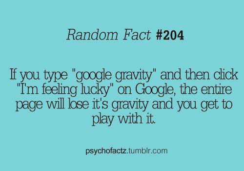 random fact...