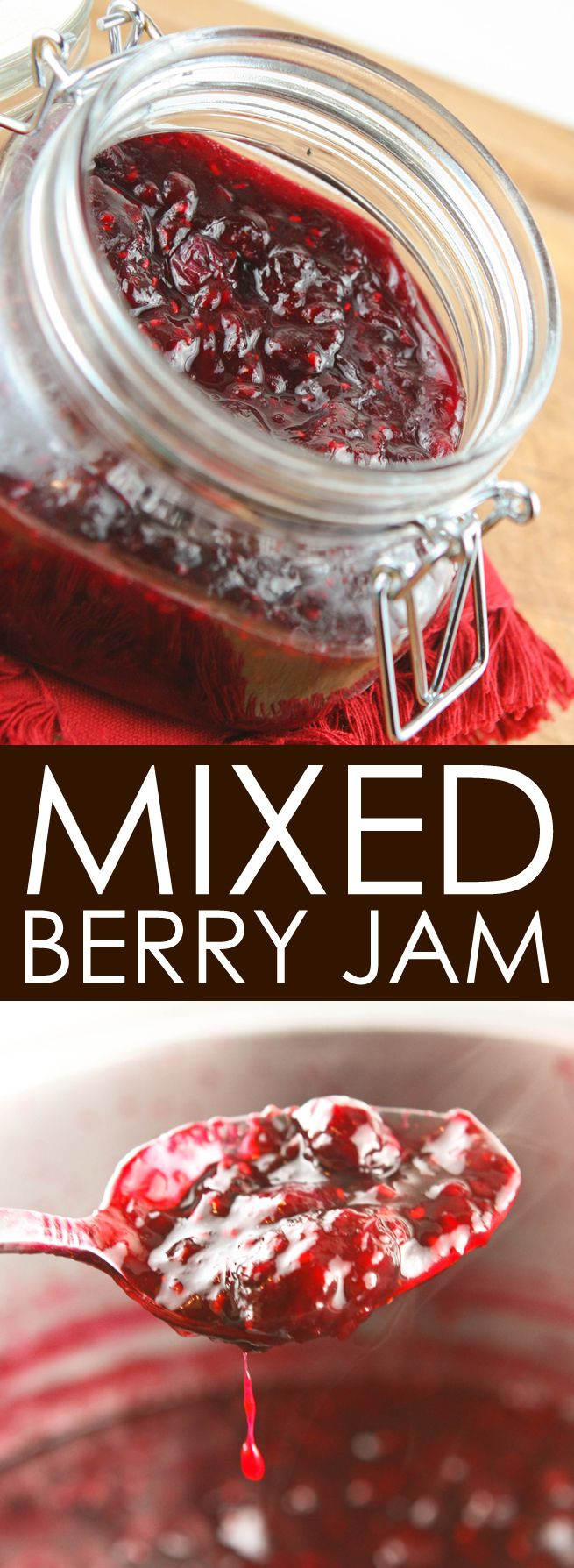 Mixed-Berry Jam | This is such an easy homemade jelly and turns out perfectly every single time! Delicious!