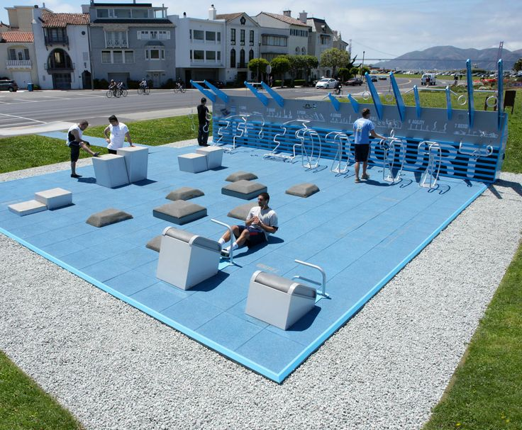 The NFC Fitness Court by NewDealDesign