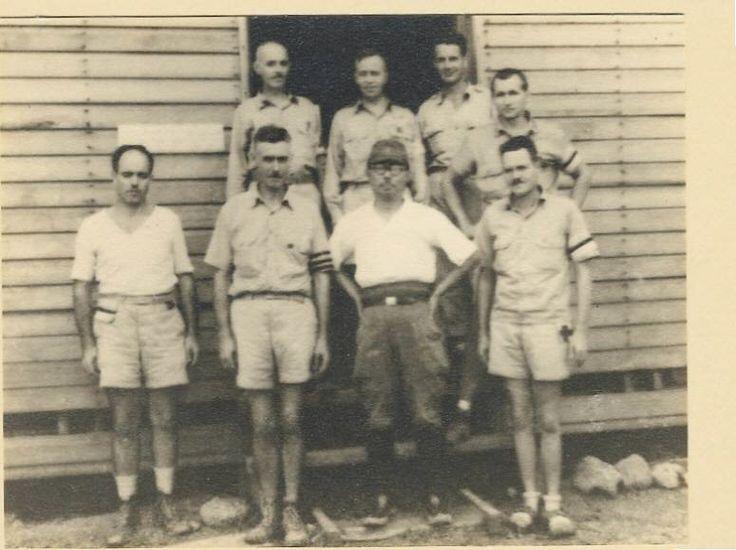 POW doctors with Japanese doctor at Cabanatuan POW Camp.