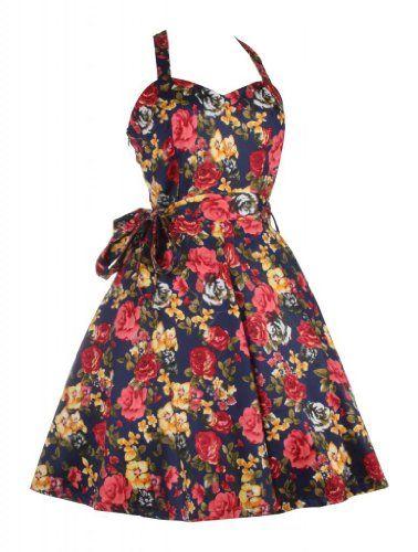 My Evening Dress - Robe Vintage imprimée à fleurs, dos nu, nouée au cou - Femme - 38, Bleu foncé Catwalk Couture http://www.amazon.fr/dp/B00HDE7TVE/ref=cm_sw_r_pi_dp_il5lvb17A841D