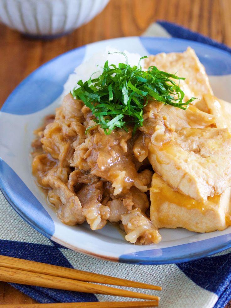 調味料3つ&水分なし『おろしポン酢 de 蒸し焼き肉どうふ』 by Yuu / 暑い季節や食欲がなくなる季節に最適なサッパリ肉どうふ。しかも、通常の肉どうふとは違い余分な水分は一切加えず豆腐の水分のみで蒸しあげます♪こうすることで旨味がギュギュッと濃縮されお豆腐がめちゃくちゃ美味しくなるんです! / Nadia