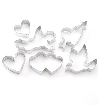 Valentine Cookie Cutter Set modern-cookie-cutters