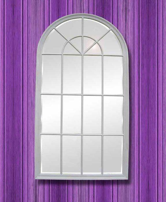 espejo clsico con forma de ventana con marco color blanco mas en http