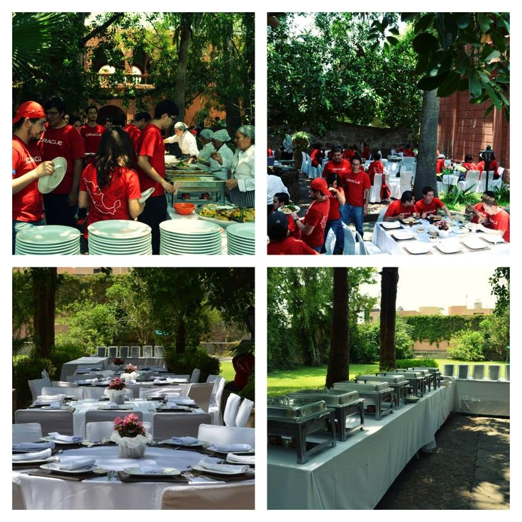 Buffete evento team building empresa oracle en hacienda San José del valle