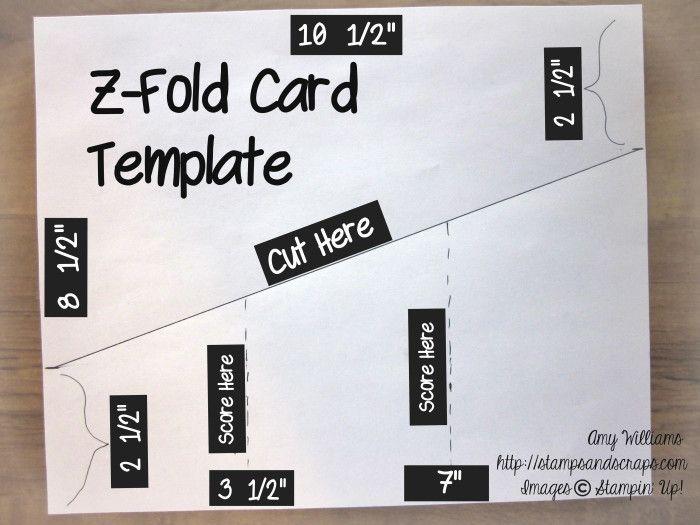Z Fold Card In 2020 Fun Fold Cards Card Making Punches Folded Cards