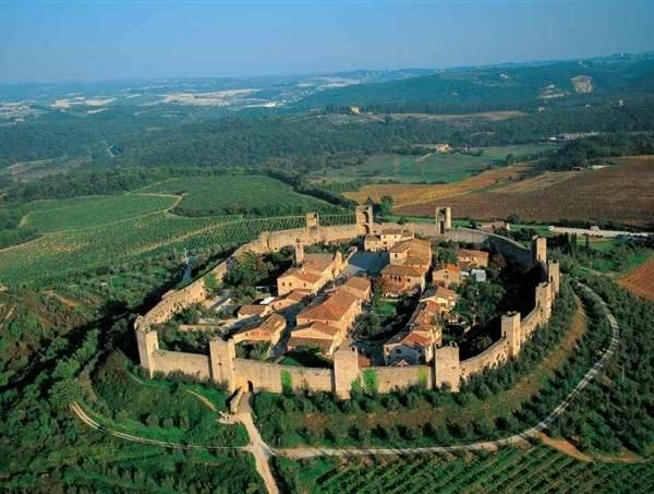 San Gimignano - Italy with its 14 remaining Medieval Towers.