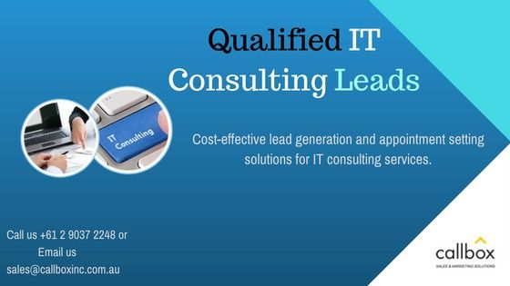 We help IT consulting firms find potential customers who require IT consulting services. We target solutions like network consulting, IT management consulting, technology consulting and a lot more.