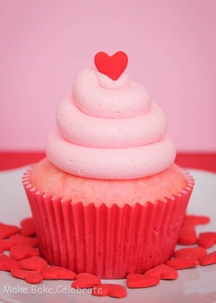 Heart Filled Valentine's Cupcakes for Two