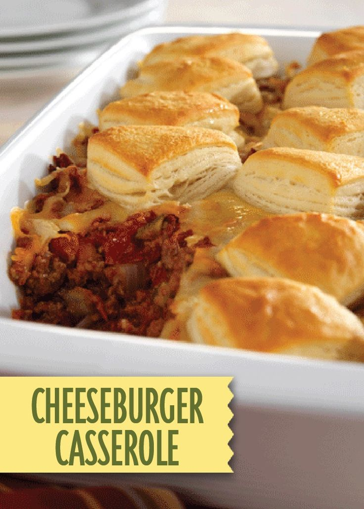 Make this Cheeseburger Casserole for all the tastes of summer in a warm fall dinner bake!