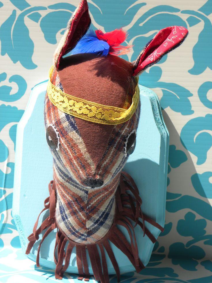 Stuffed Mounted Deer Head