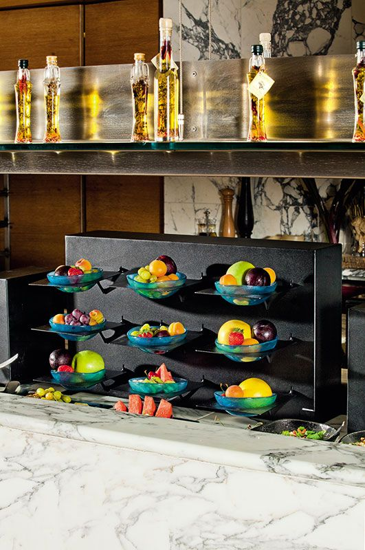 Fruit buffet display