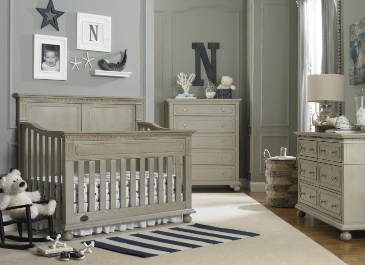 Baby Nursery:Baby Boy Crib Bedding Sets And Ideas Vintage Grey Wooden Painted Crib Grey Solid Painted Wall Baby Boy Room Ideas Photo Frame Modern Grey Wooden Half Cupboard With Drawer White Tedy Doll White Rug trendy family must haves for the entire family ready to ship! Free shipping over $50. Top brands and stylish products
