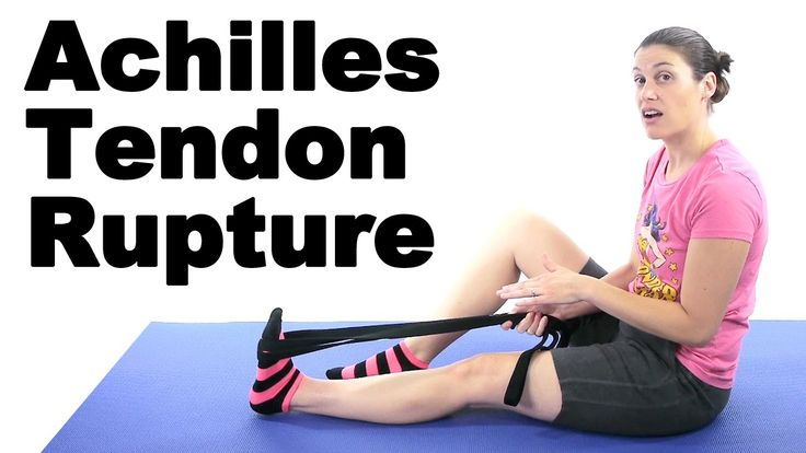 With an Achilles Tendon Rupture, you might end up needing surgery. These stretches and exercises can help you before and afterwards. The stronger and more flexible you can be before a surgery, the better your recovery will be after. See Doctor Jo's blog post about this at: http://www.askdoctorjo.com/achilles-tendon-rupture