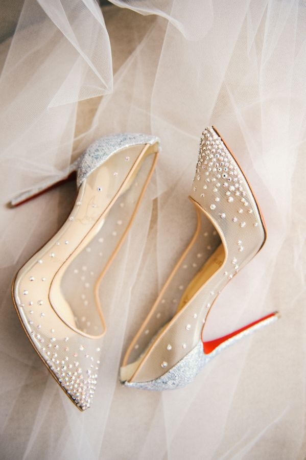 Embellished pointed toe red sole pumps: http://www.stylemepretty.com/virginia-weddings/norfolk/2016/09/20/classic-elegance-in-a-breathtaking-museum-setting/ Photography: Still 55 - http://www.still55weddings.com/
