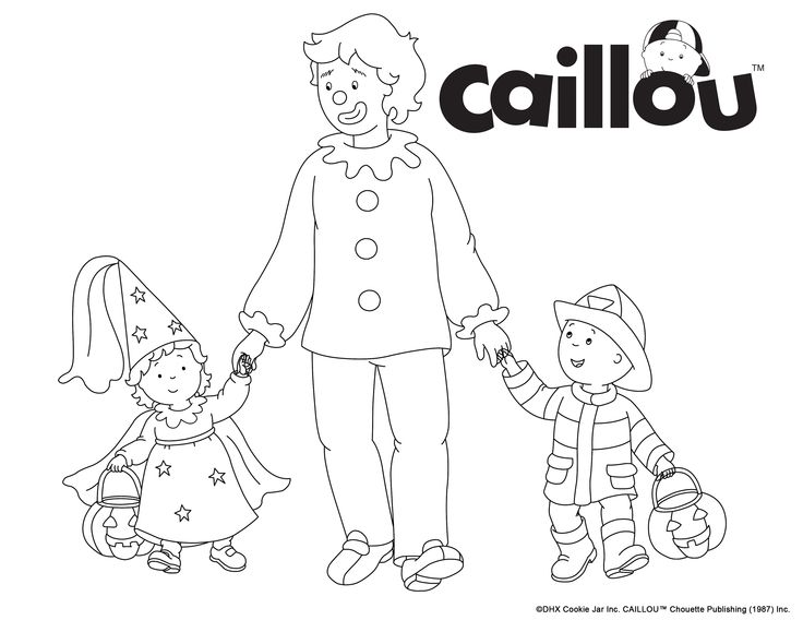 76 best caillou coloring fun images on pinterest