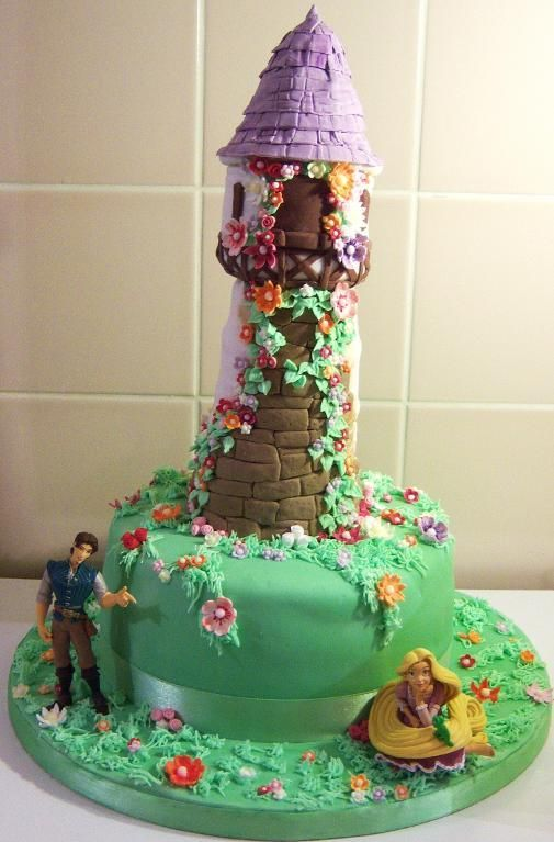 Cake Decorating: Rapunzel Cake...Omg I want to do this for belllast year we did tinkerbell.