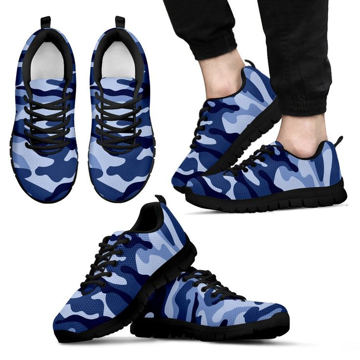 Just launched! Mens Sneakers. Blue Camouflage Shoes http://oompah.shop/products/mens-sneakers-blue-camouflage-shoes