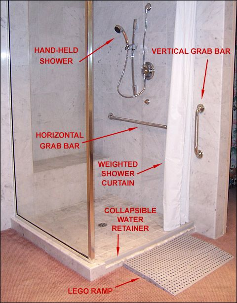 Shower Dam For A Wheelchair Shower Keeps Water Inside The