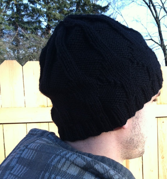 Manly Black Hat by CoffeeAndT on Etsy, $25.00
